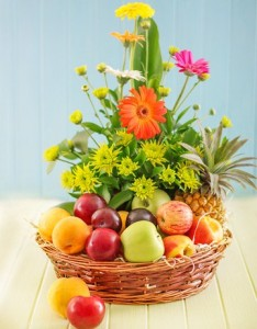 Fruit  And Floral Basket